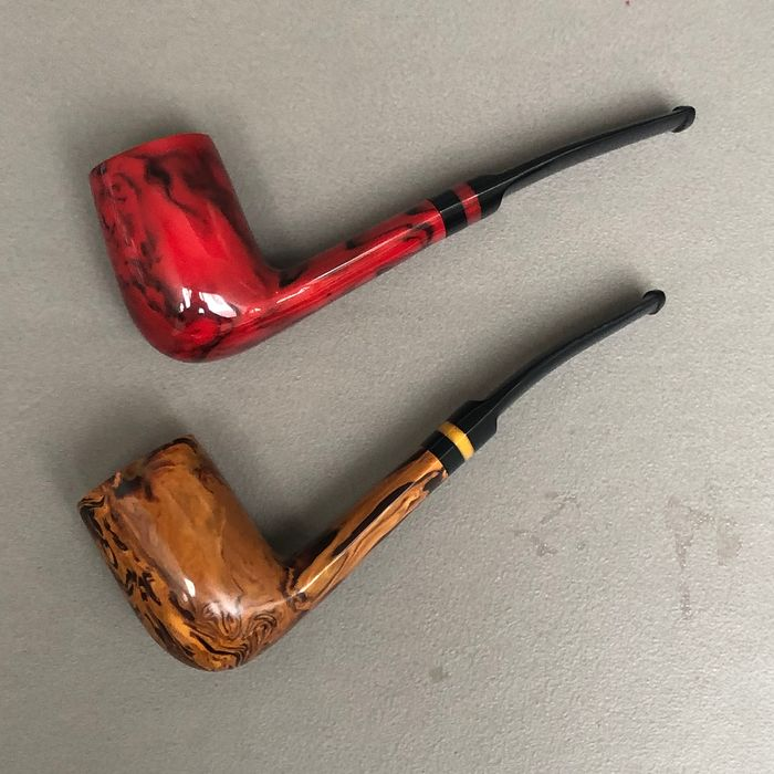 "Hilson - Two ""Fantasia Largo"" pipes, model 200"