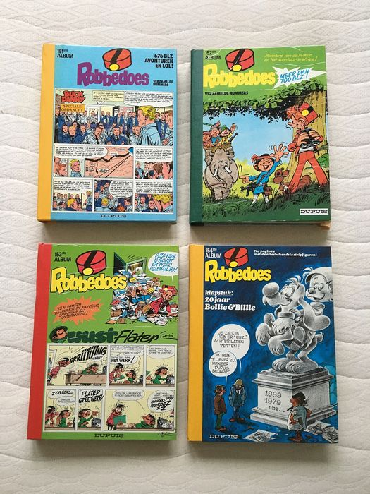 Robbedoes (magazine) - Robbedoes album nr. 151, 152, 153 & 154 - Hardcover - First edition - (1979/1979)