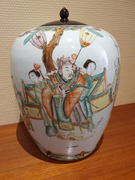 Jar (1) - Porcelain - Dignitary - China - 19th century
