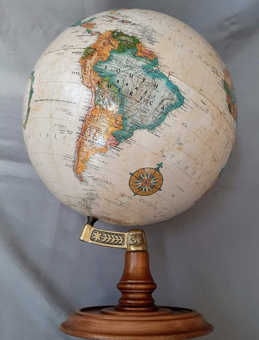 Le Roy & M. Tolman - Replogle Globes , Inc. - Globe / globe in relief - paper, wood, brass