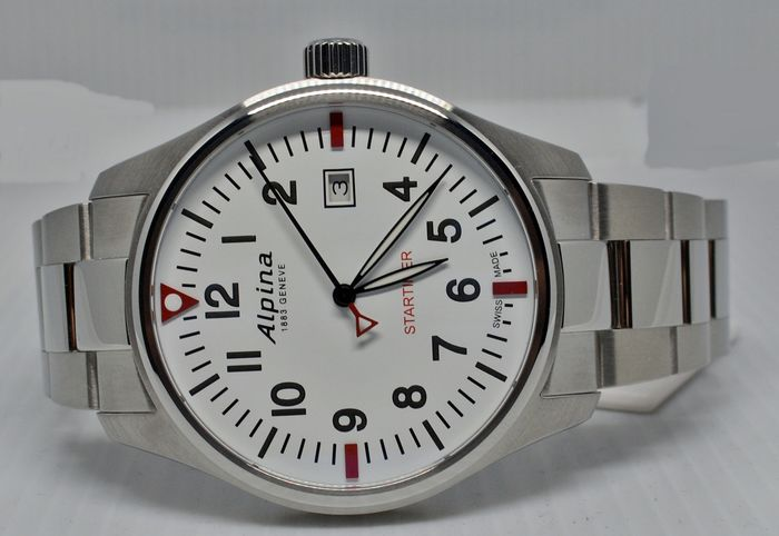 "Alpina - Startimer Collection Startimer Pilot Quartz Stahl Stahl - AL-240S4S6B  - ""NO RESERVE PRICE"" - Heren - 2019"