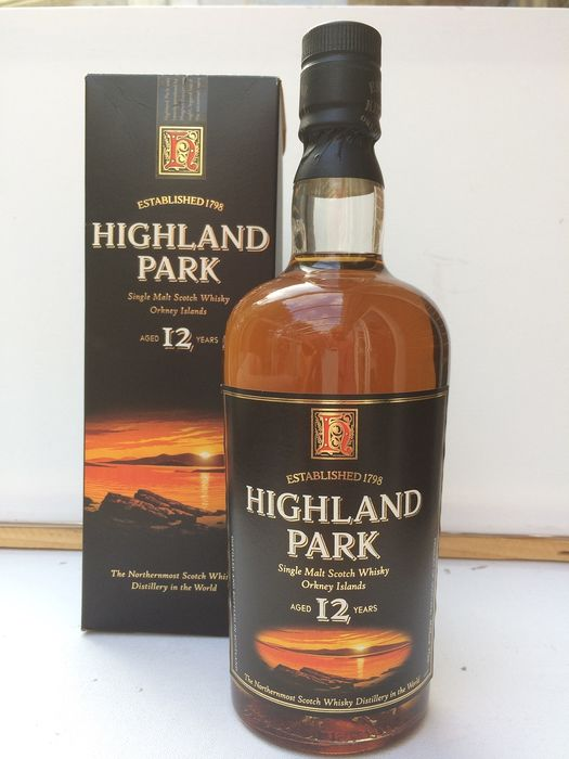 Highland Park 12 years old - Original bottling - b. late 1990s to early 2000s - 70cl