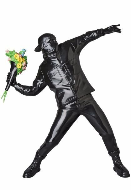 Banksy Medicom Brandalism Sync Japan - Banksy Flower Bomber 2019 (Black version)