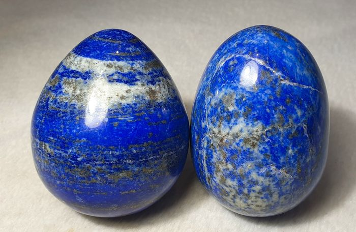 amazing natural color  lapis lazuli egg Egg - 65×35×45 mm - 600 g - (2)