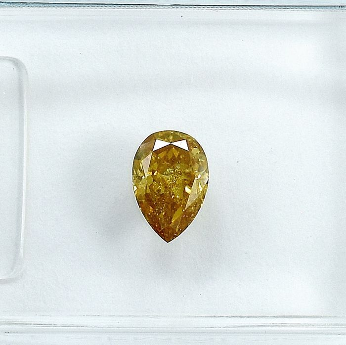 Diamant - 0.36 ct - Birne - Natural Fancy Brownish Yellow - SI2