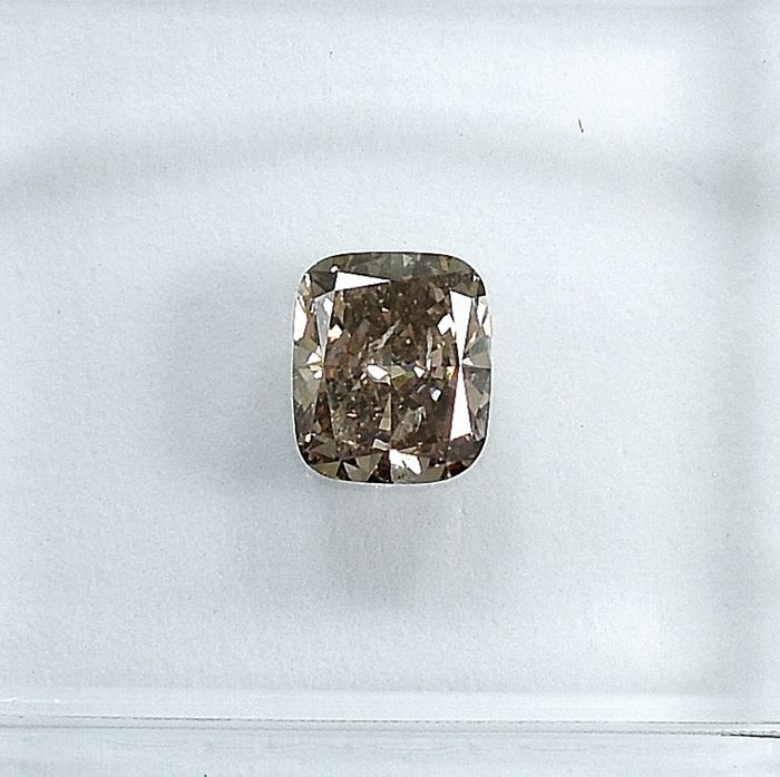 Diamant - 0.48 ct - Kissen - Natural Fancy Light Pinkish Brown - Si1 - NO RESERVE PRICE