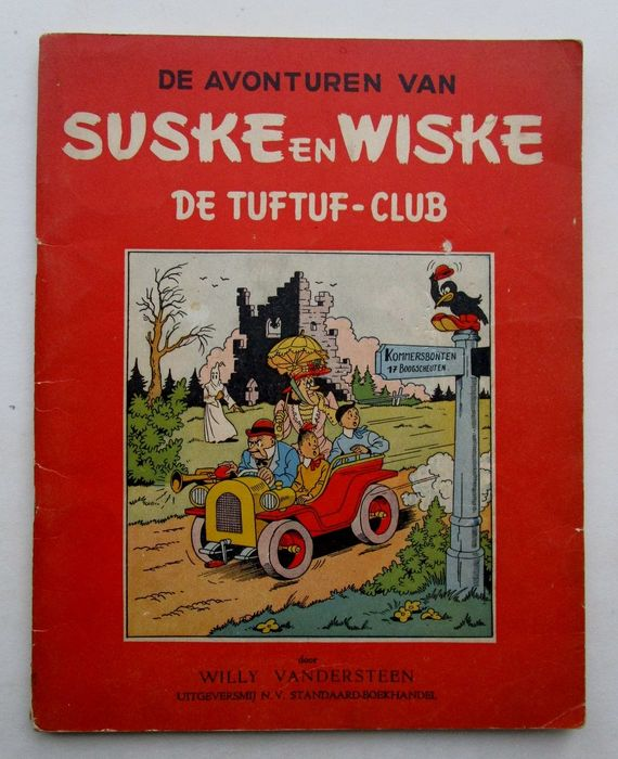 Suske en Wiske RV - 14a - De tuftuf - club - Softcover - First edition - (1952)