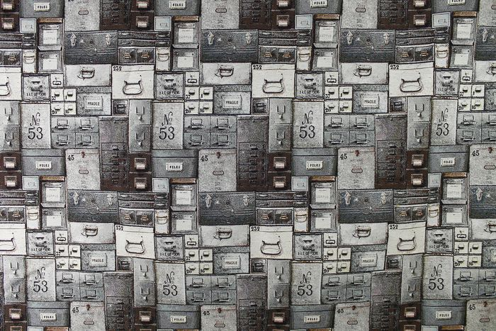 5.20 meters !!! Eclectic textile gobelin fabric with military cassette designs. textile, fabric, - cotton blend - 2018