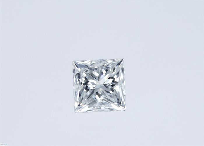 1 pcs Diamant - 1.02 ct - Prinzess - E - VS1