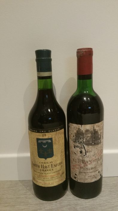 Mixed lot - 1979 Chateau Smith Haut Lafitte & 1971 Chateau L' Evangile  - Graves, Pomerol - 2 Bottles (0.75L)