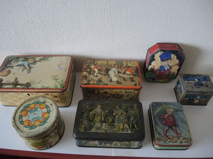 divers - Lot with 7 old tins (7) - Look