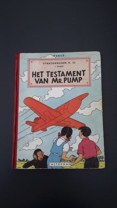 Jo, Suus en Jokko V1 - Het testament van Mr. Pump - Hardcover - First edition - (1951)