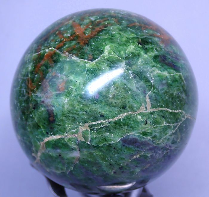 Beautiful Chrysoprase Sphere - 80.43×80.43×80.43 mm - 606 g