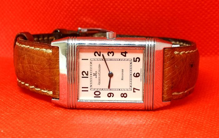 Jaeger-LeCoultre - Reverso Leather Original Band  - Ref 250808 12 Month Warranty - Men - 1980-1989