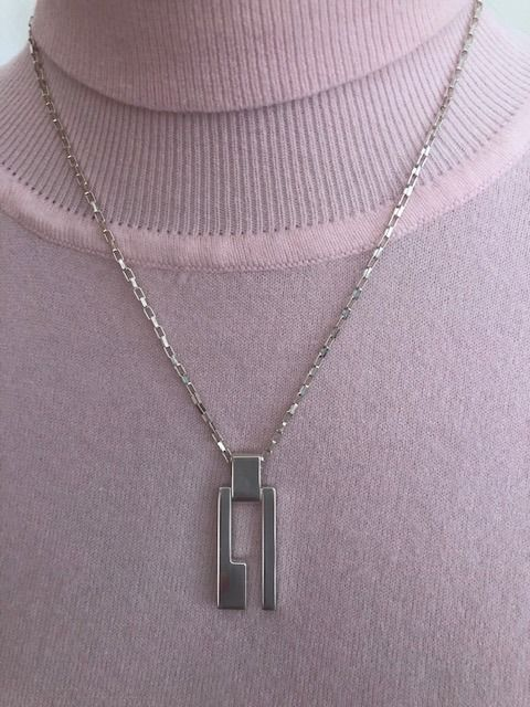Gucci - 925 Sterling Silver Necklace  with logo * no minimum price