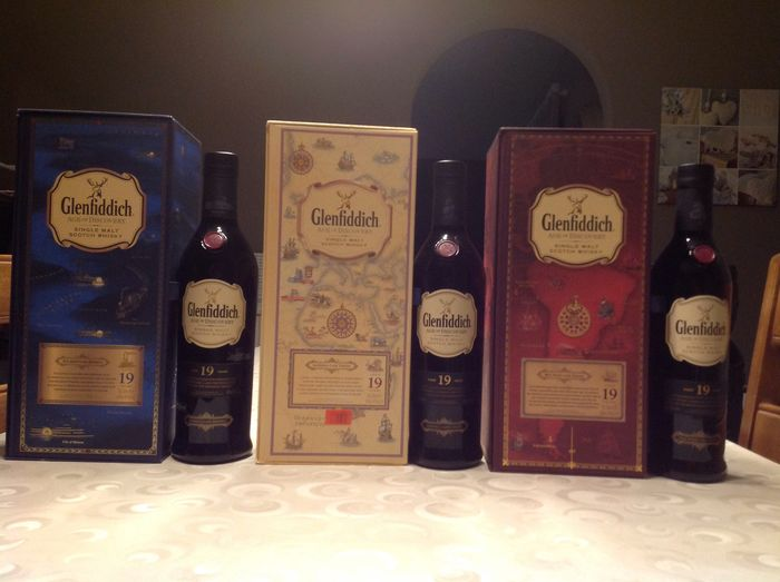 Glenfiddich 19 years old Age of Discovery  - 70cl - 3 bottles