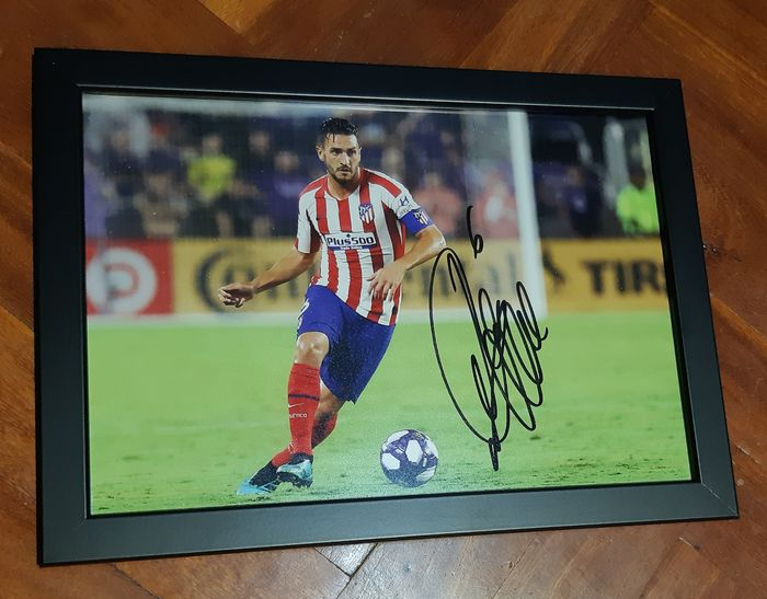 Atlético de Madrid - Spanish Football League - Koke - Autograph, Photograph