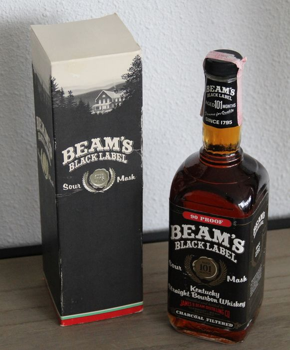 Beam's  Black Label - 101 month old - b. 1980s - 75cl