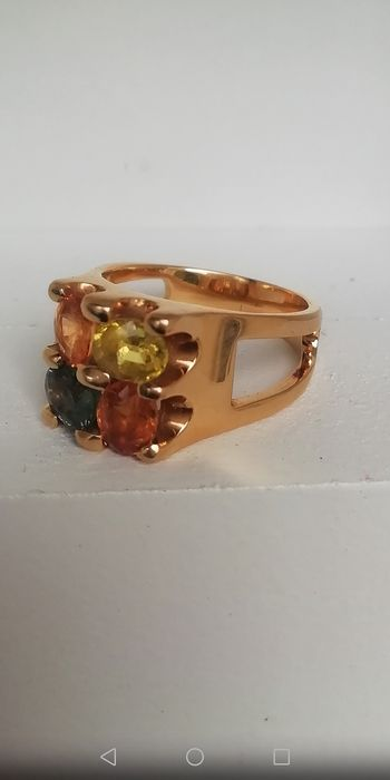 18 kt. Gold, Yellow gold - Ring - 0.85 ct Sapphire - Sapphires