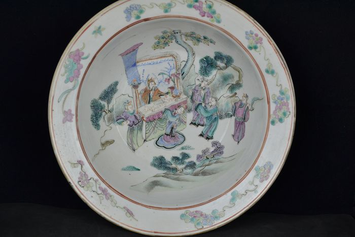 Bowl, Plate (1) - Famille rose - Porcelain - China - 19th century