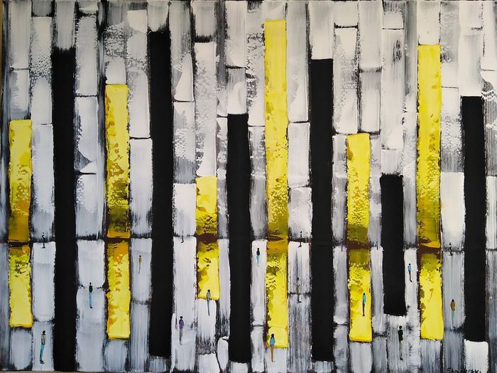 Filip Łoziński  - Composition with yellow and black