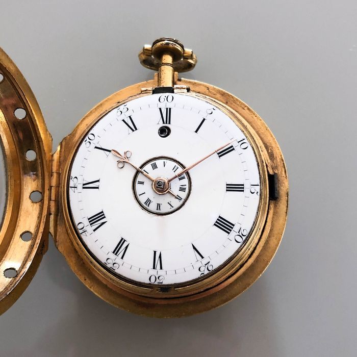 Gilt verge alarm by Simon de Charmes, 1690s - Unisex - Earlier than 1850