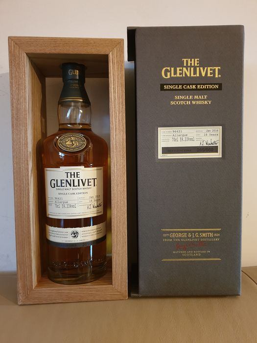 Glenlivet 18 years old Allargue Single Cask Edition - Original bottling - b. 2016 - 0.7 Ltr