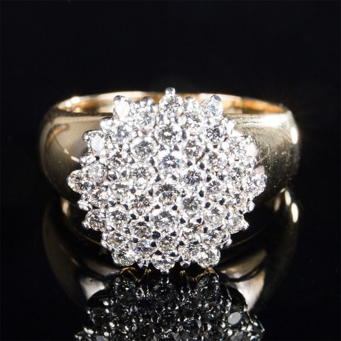 14 kt. Yellow gold - Ring - 1.50 ct Diamond
