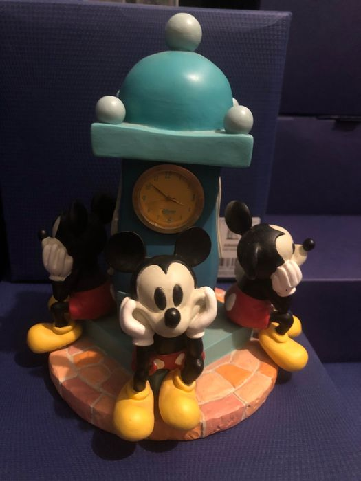 Disney resin beeld Mickey Mouse klok - Disney beeld - resin - Mickey Mouse klok - First for sale