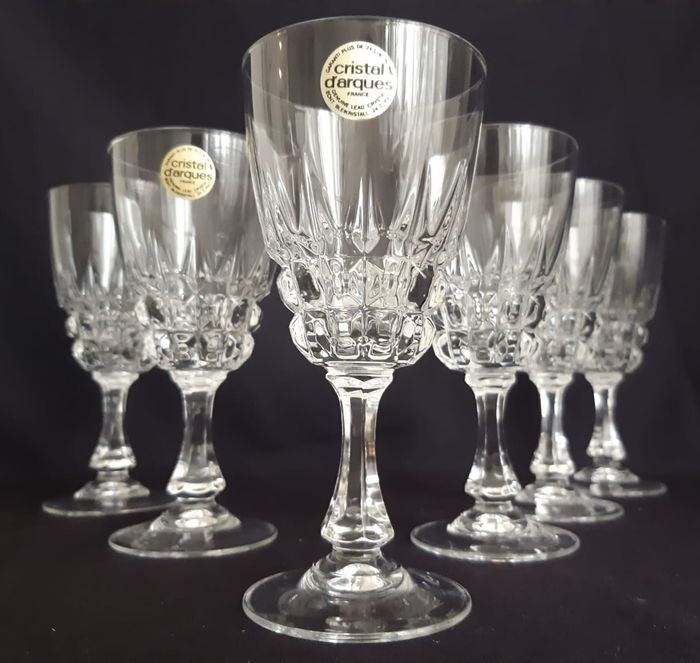 Cristal d'Arques - Red Wine Glasses (6) - Kristal