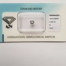 1 pcs Diamant - 0.35 ct - Brilliant - E - VS2