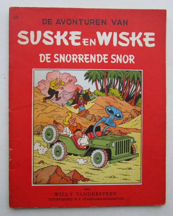 Suske en Wiske RV - 29 - De snorrende snor - Softcover - First edition - (1957)