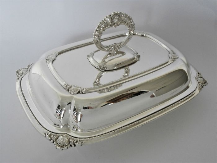 Alexander Clark Co of London - Alexander Clark Co of London - Double serving dish / deck scale - Silverplate