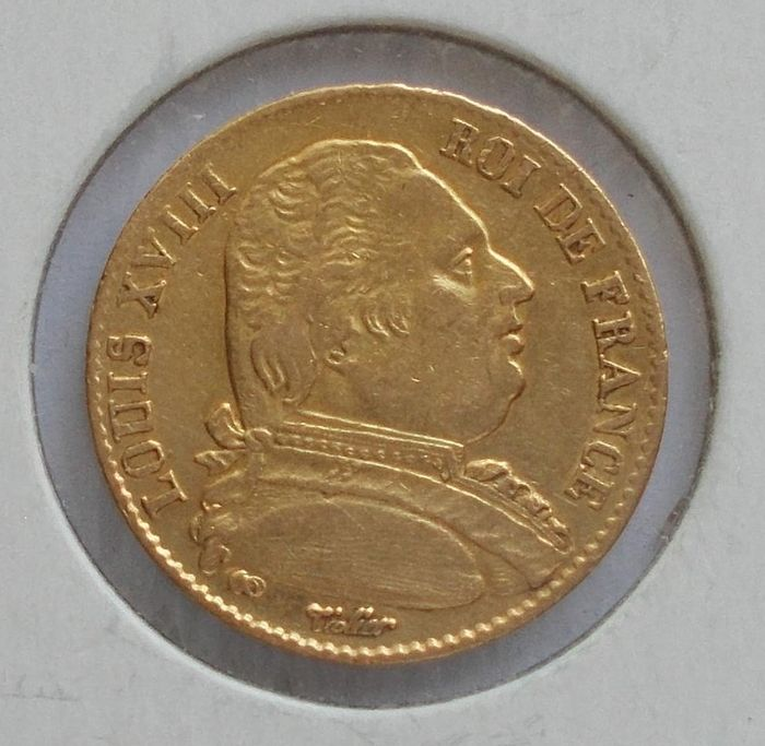 20 Francs 1814-A Louis XVIII - Or