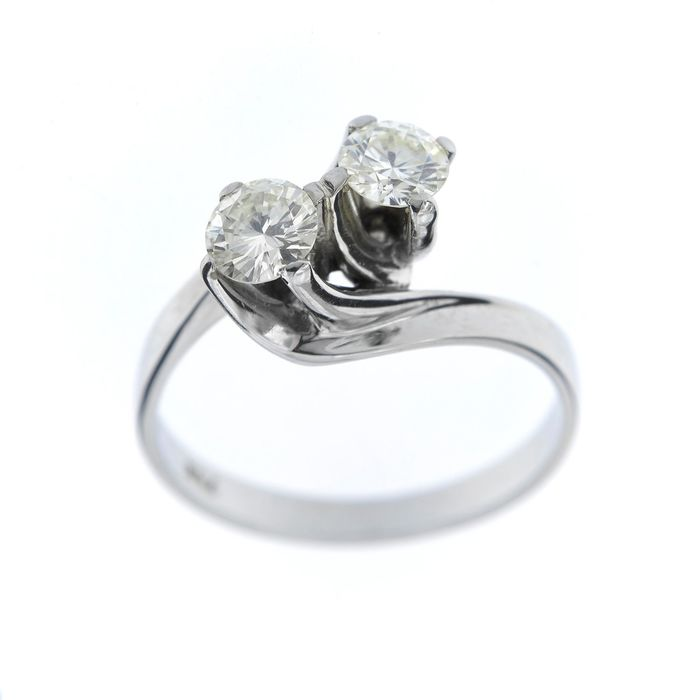 Made in Italy - 18 kt. White gold - Ring - 0.75 ct Diamond