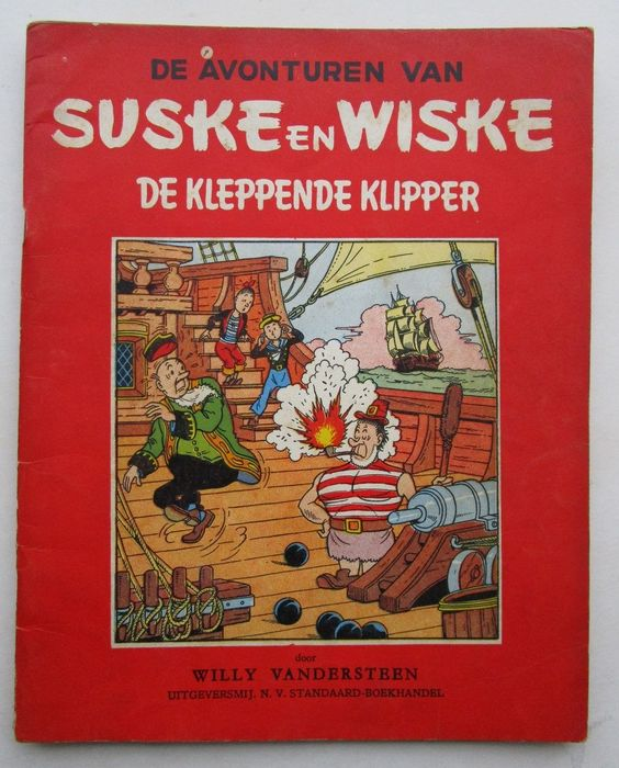 Suske en Wiske RV-24 - De kleppende klipper - Stapled - First edition - (1955)