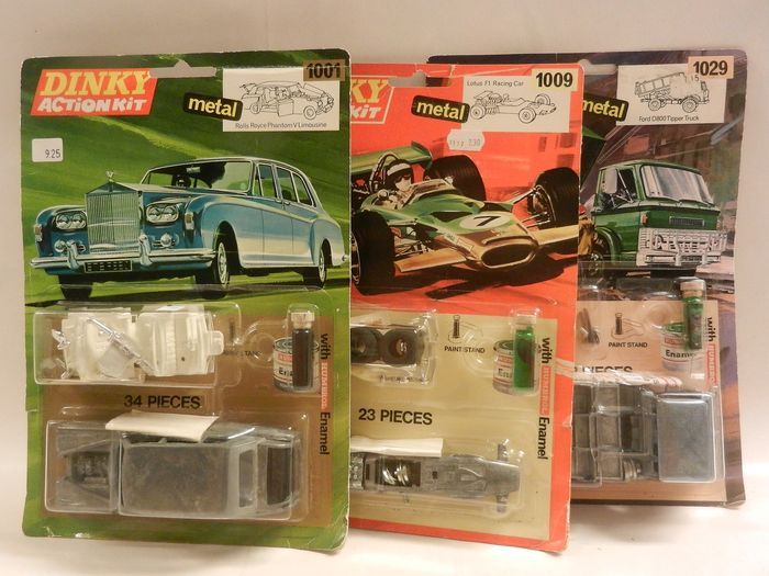 Dinky Toys - 1:43 - 3 x Ongeopende Action Kits Rolls Royce 1001, Lotus 1009 en Ford 1029