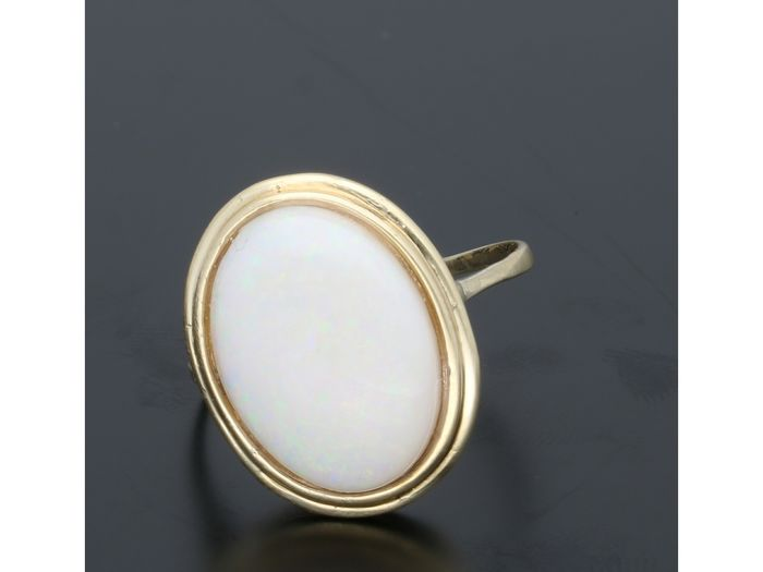 14 kt. Gold - Ring Opal