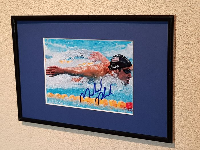 USA - Olympic Games - Michael Phelps - Olympic legend - Hand signed framed photograph
