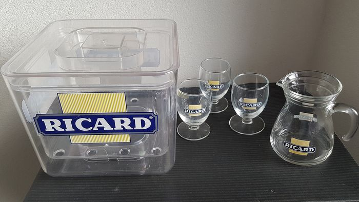 Ricard accessories (5) - Hard plastic and glass