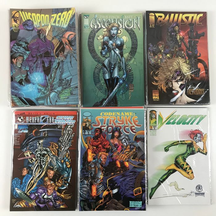Weapon Zero, Velocity, StrikeForce, 21, Ballistic - Various Complete Series, 64x Issue - First edition