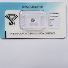 1 pcs Diamant - 0.33 ct - Brilliant - D (färglös) - VS1