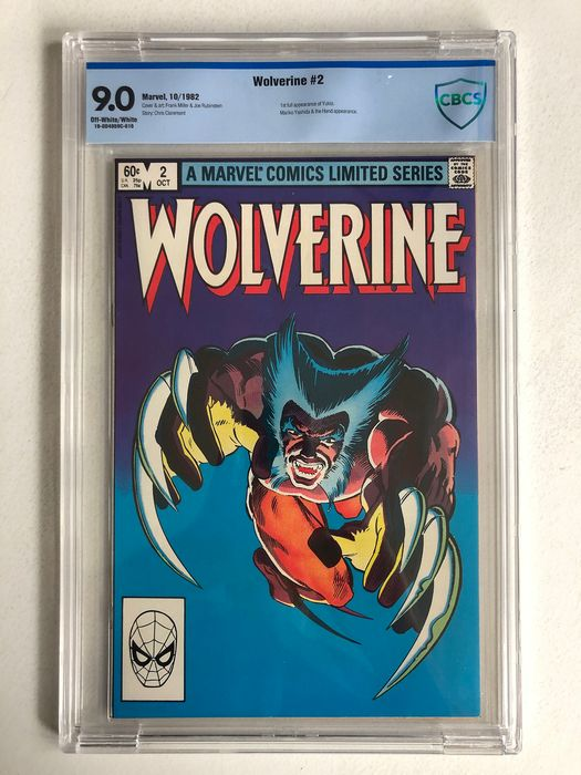 Wolverine #2 - from Frank Miller's Famous Limited Series - 1st Full Appearance Of Yukio - CBCS Graded 9.0 - Very High Grade!! - Softcover - First edition - (1982)