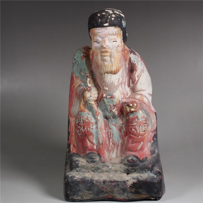Sculpture (1) - Pottery - Immortal - Shou 壽 - China - Late 19th century
