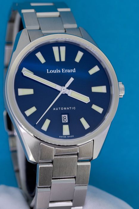 "Louis Erard - Automatic Watch Sportive Collection Blue Dial Stainless Steel - 69108AA05.BMA48 ""NO RESERVE PRICE"" - Men - Brand New"
