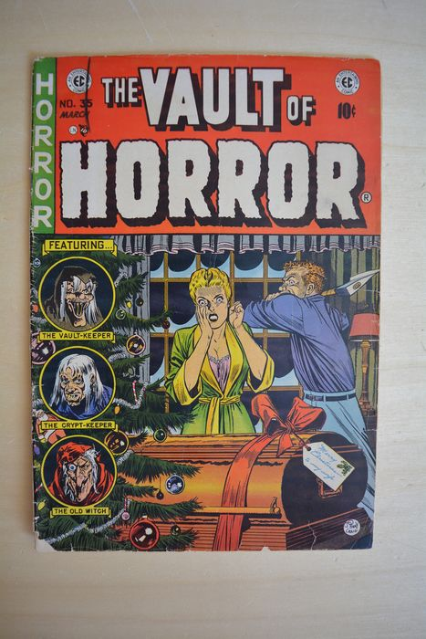 The Vault of Horror #35 - Xmas - Featuring - the vault-keeper - the old witch - the crypt-keeper - Tapa blanda - Primera edición - (1954)