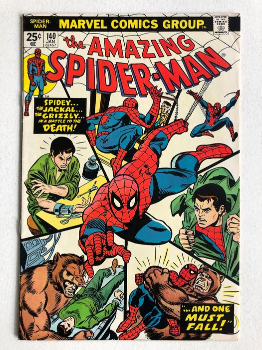 The Amazing Spider-Man #140 -  1st Appearance Of Gloria Grant - High Grade! - Softcover - First edition - (1975)