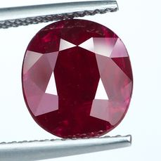 No Reserve - Red Ruby  - 4.29 ct