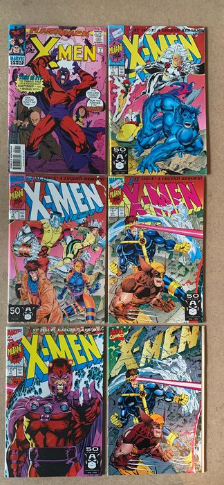 X-Men - 43X  Complete Run - #Minus 1, 1A, 1B, 1C, 1D, 1E, 2-38 - 1st appearance Omega Red - Wolverine, Cyclops, Jean Grey, Storm, Beast, Gambit, Colossus, Psylocke, Rogue, Magneto, Omega Red - Softcover - Erstausgabe - (1991/1995)