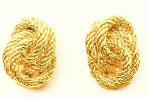 Christian Dior - exclusive vintage knotted Paris 1970 Earrings